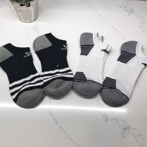 Adidas New Mens 4 Pack athletic socks